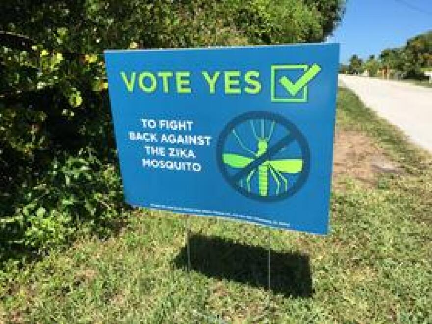 A campaign in favor of the trial put up signs and sent mailers around the Keys.