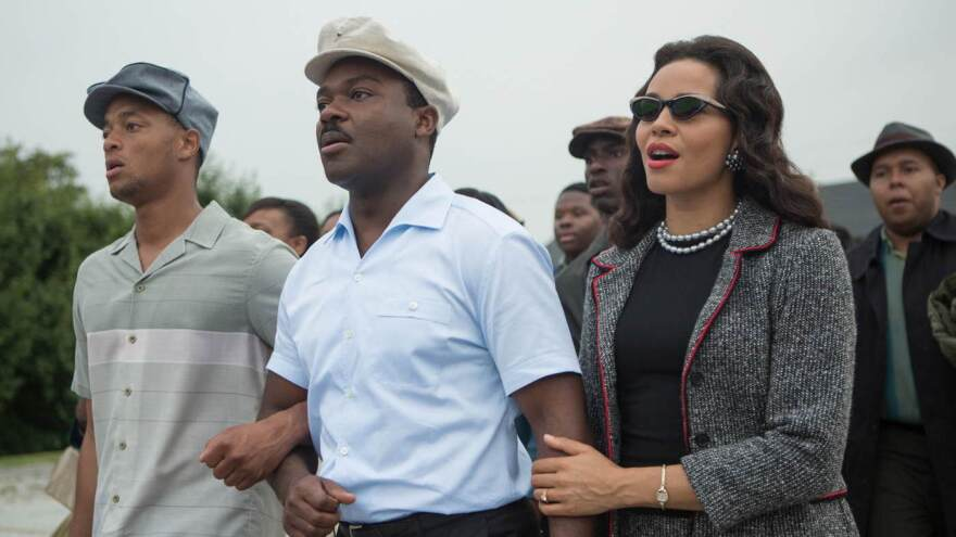 David Oyelowo as Martin Luther King Jr. and Carmen Ejogo as Coretta Scott King in the new movie <em>Selma</em>.