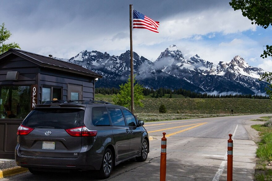 Entrance to Grand Tetons National Park