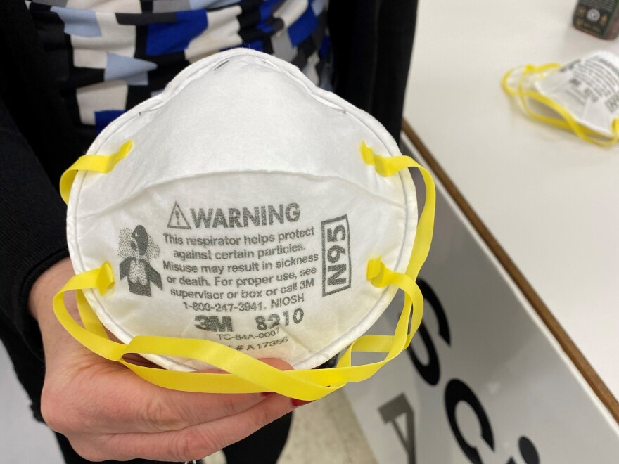 N95 respirator manufactured by 3M