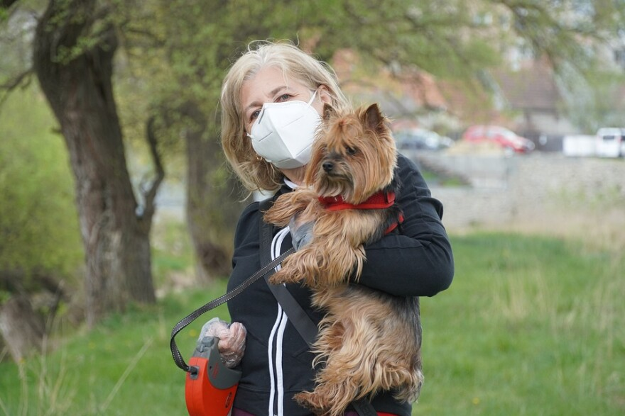 Dog and woman with mask pandemic covid-19.jpg
