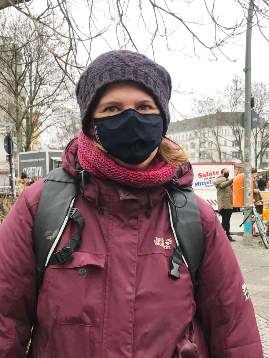 Clara Rienits, a high school politics teacher in Berlin.