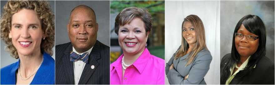 From left, Jennifer Roberts, Joel Ford and Vi Lyles are the top three candidates for the Democratic mayoral nomination.