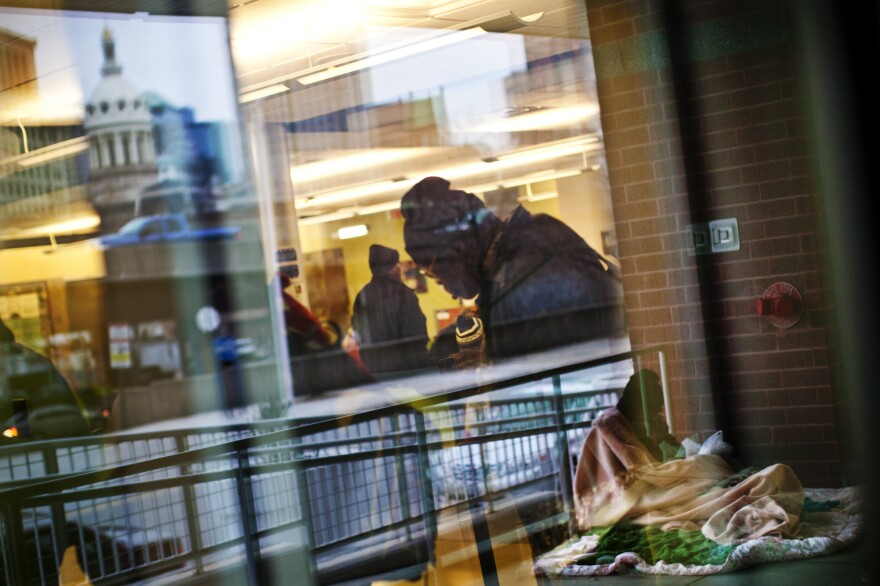 Health Care for the Homeless is a nonprofit that serves many of Baltimore's aging homeless population. Many sleep in front of the clinic, and others hang out inside to stay warm during the winter.