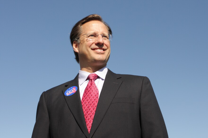 College economics professor and Republican candidate for Congress David Brat attends the Henrico County Republican Party breakfast in 2014 in Glen Allen, Va.