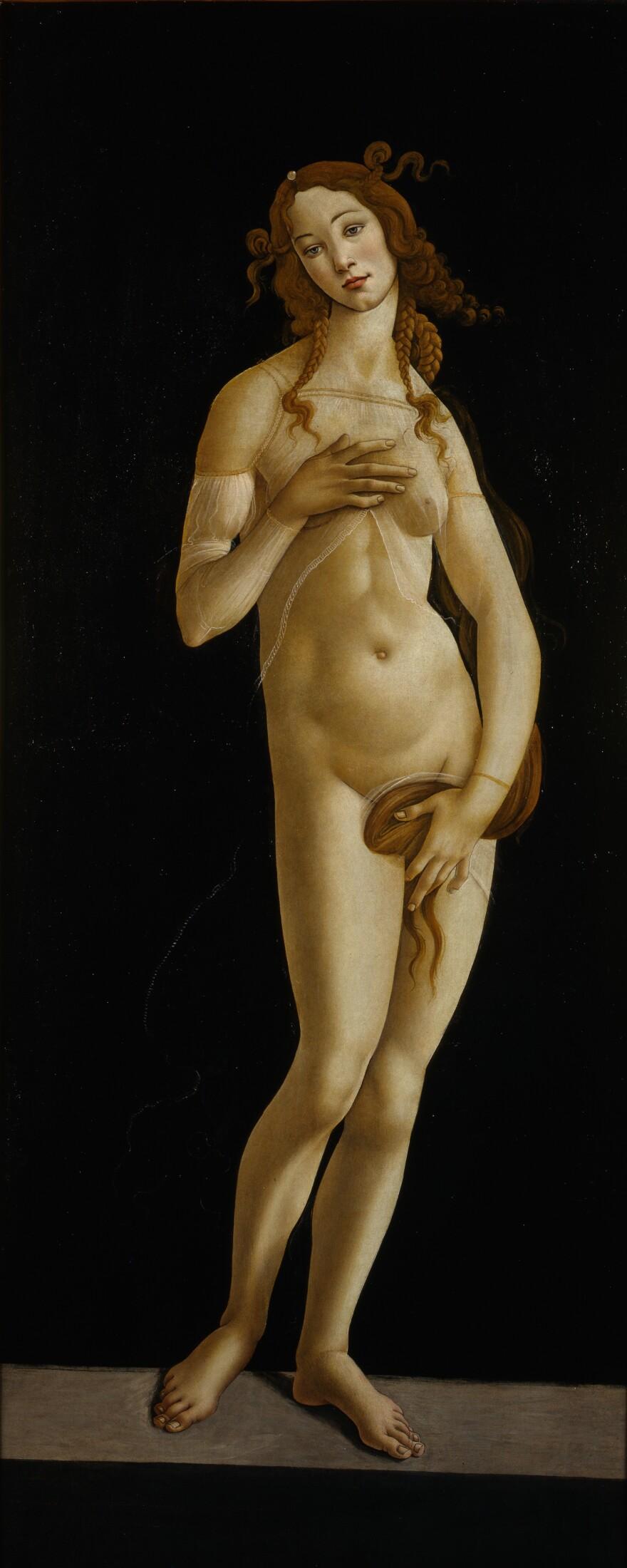 Sandro Botticelli's <em>Venus </em>was painted after his best known work depicting the goddess, <em>The</em> <em>Birth of Venus. </em>