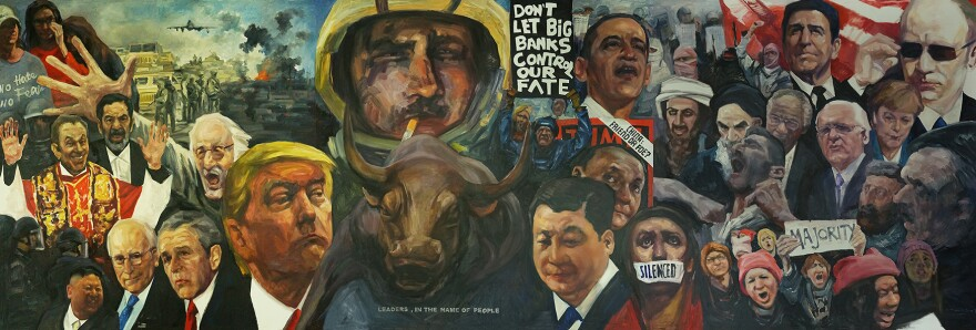 Yingxue Zuo's painting 'Leaders - In the name of people' 8/30/19