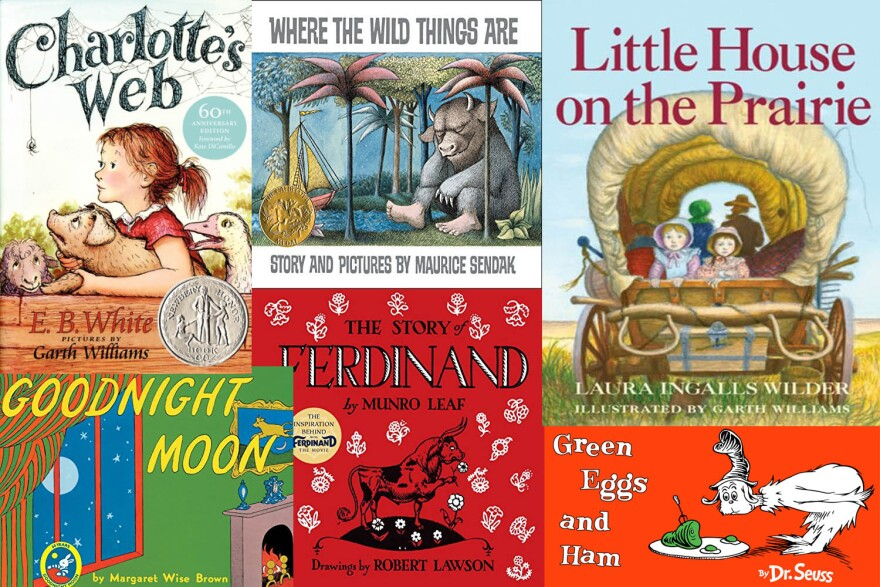 """Children's titles mentioned in Bruce Handy's book """"Wild Things: The Joy of Reading Children's Literature as an Adult."""""""