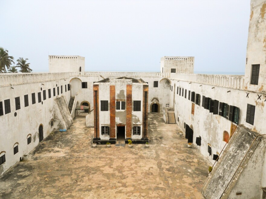 This small building is the chapel at the slave castle at Elmina in Ghana.