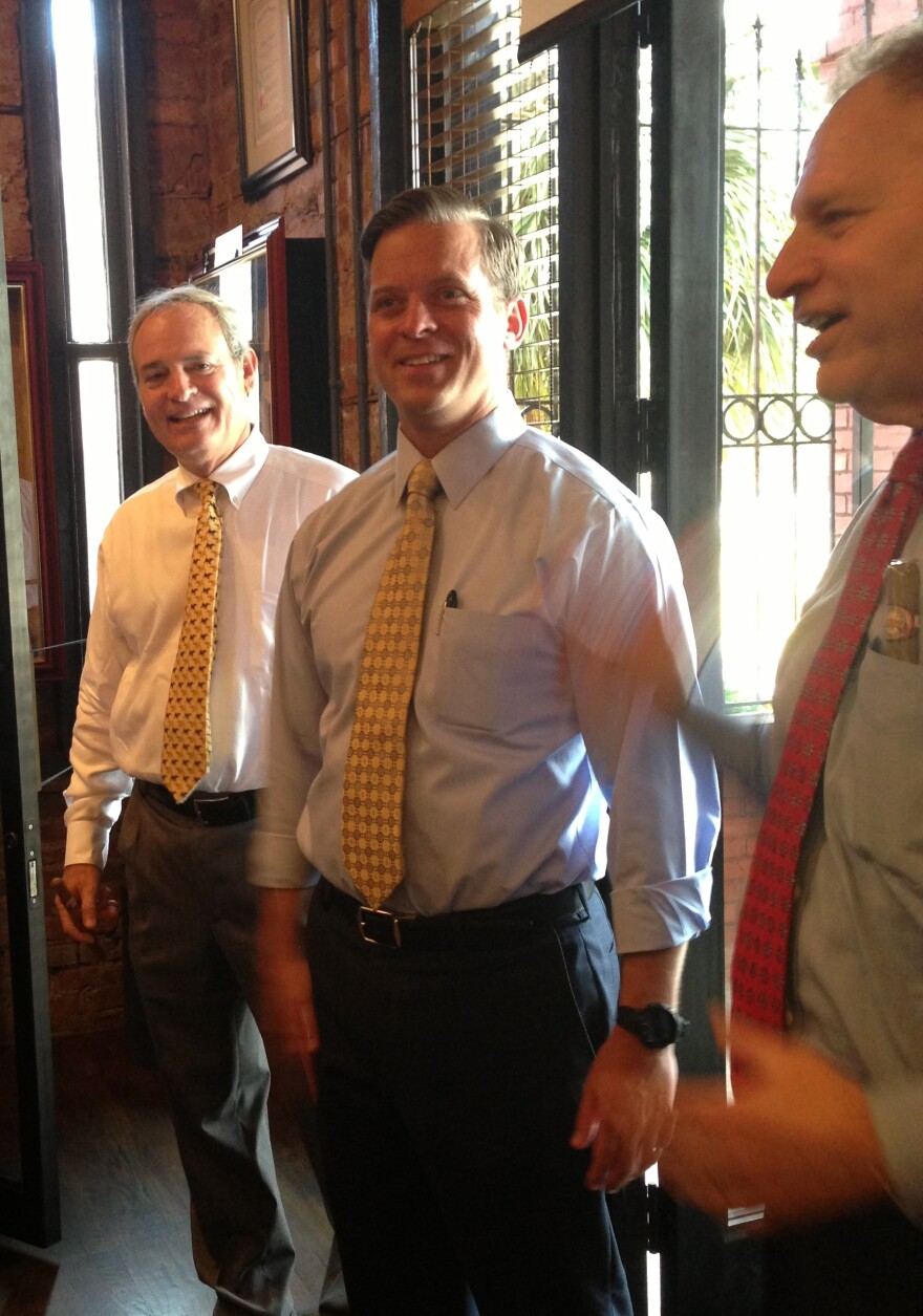 Brothers Eric and Bobby Newman and Lt. Gov. Carlos Lopez-Cantera