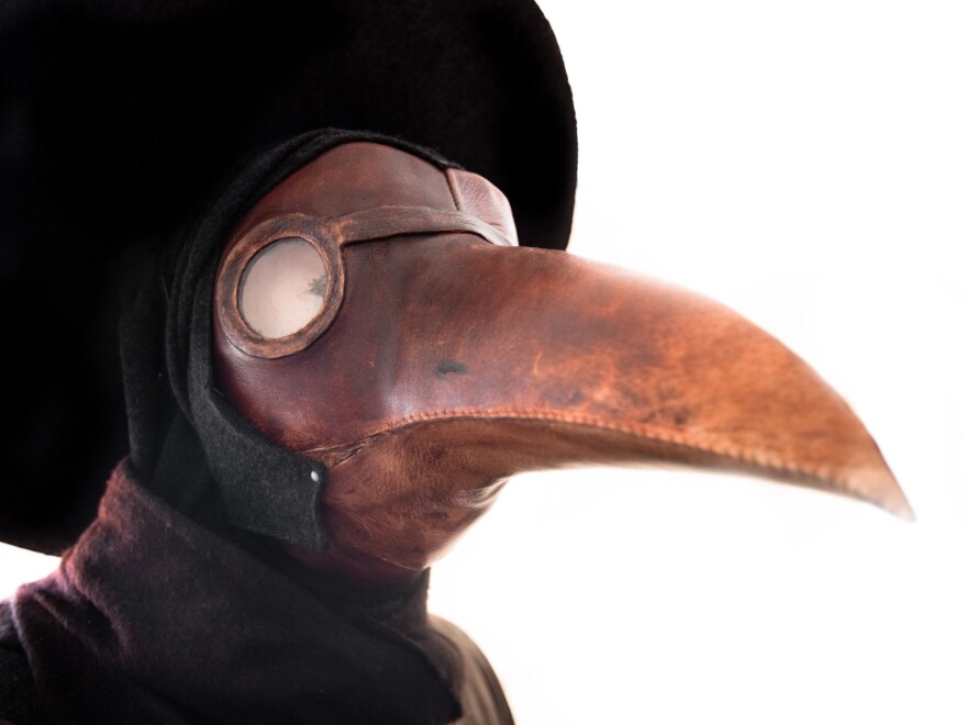 Doctors in the 1600s wore birdlike masks like these, which were thought to protect against disease. Which disease? Take the quiz and find out!