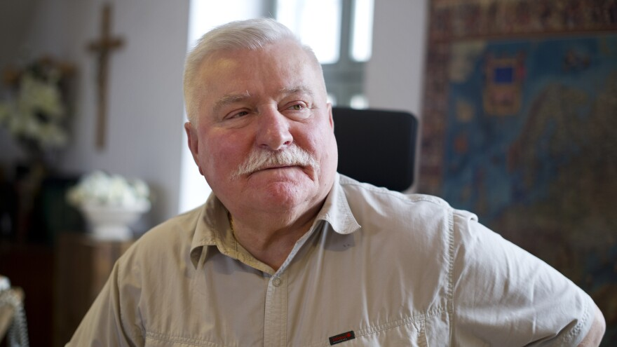 Former Polish President Lech Walesa, shown at his office on June 20, 2012, in Gdansk, Poland. The Nobel Peace laureate has long denied accusations that he collaborated with Communist-era secret police.
