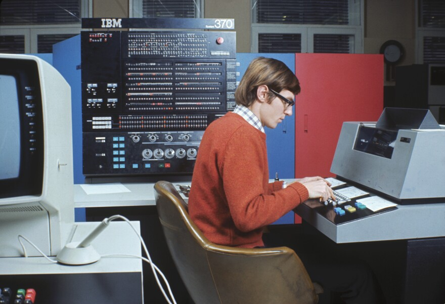 """Before the introduction of the personal computer, mainframe computers were the norm. The IBM System/370 mainframe computer, introduced in 1970, was one of the first computers to include """"virtual memory"""" technology."""
