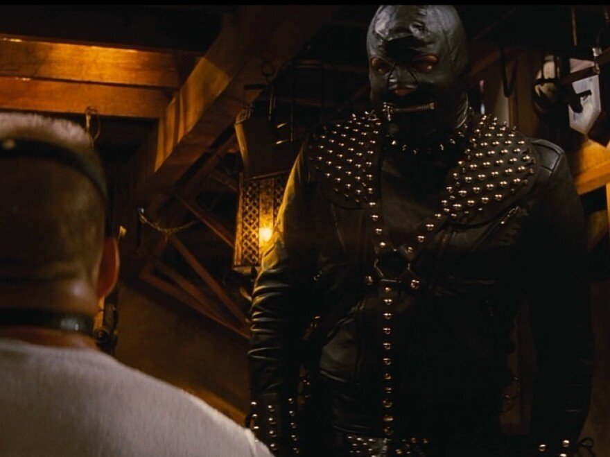 The Gimp character in <em>Pulp Fiction</em>, clad head-to-toe in studded black leather, has no lines in the film but still manages to be memorable.