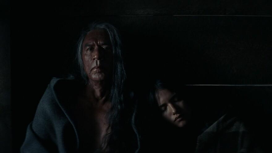 Wes Studi plays Chief Yellow Hawk in <em>Hostiles</em>. (Also pictured: Tanaya Beatty)