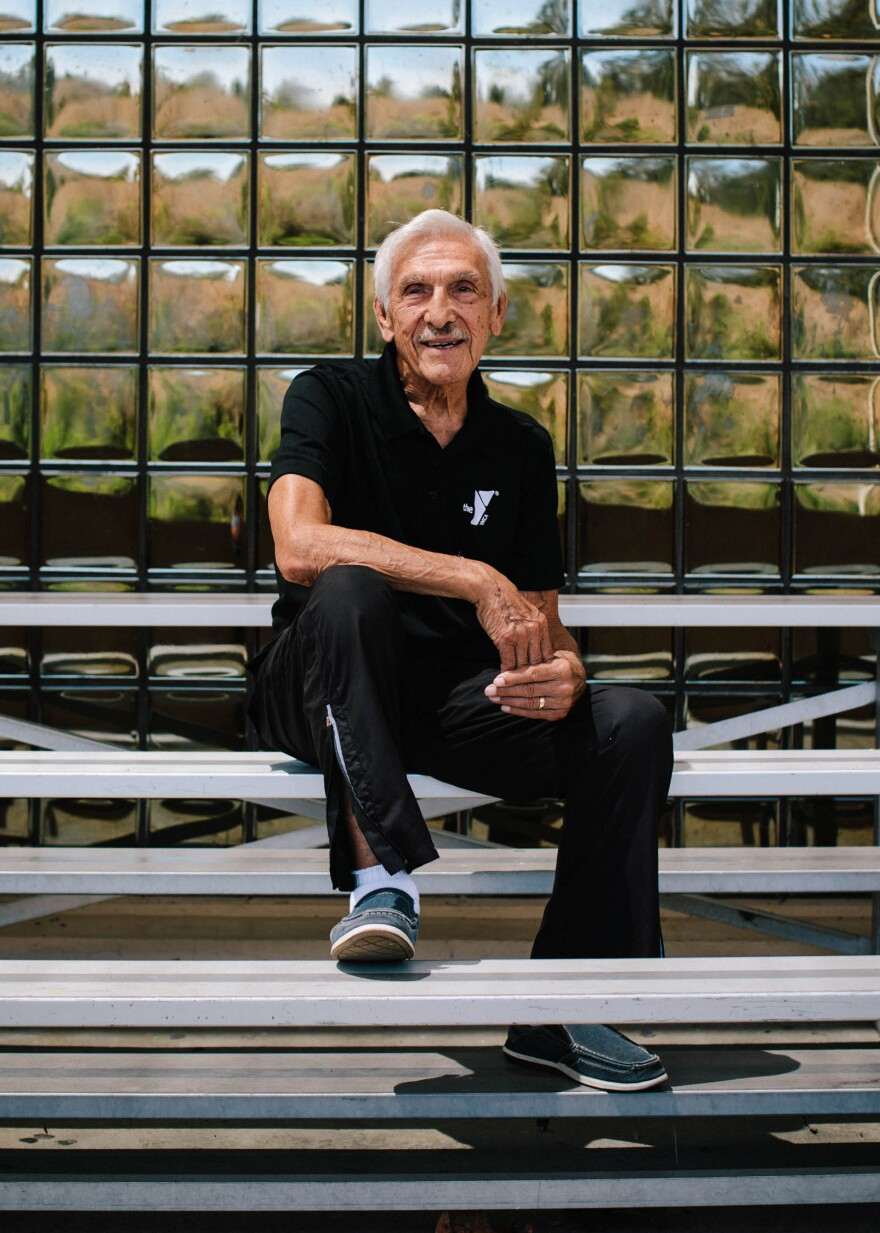 "Bob Orozco has been in fitness his entire adult life. He began working for the Laguna Niguel YMCA in 1984 and leads the Silver Sneakers club, a free fitness program for Medicare beneficiaries. ""I probably will work until something stops me,"" Orozco says."