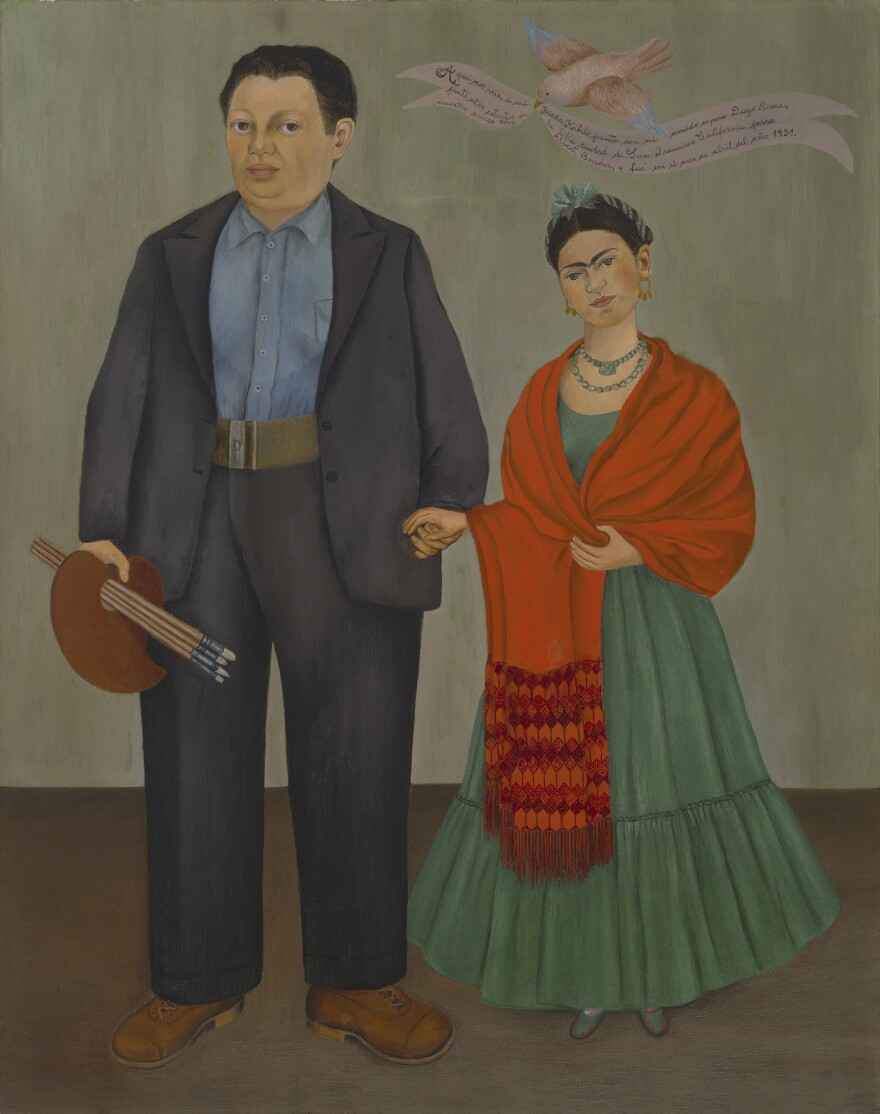 A new exhibit at the Detroit Institute of Arts displays nearly 70 works by Diego Rivera and Frida Kahlo.