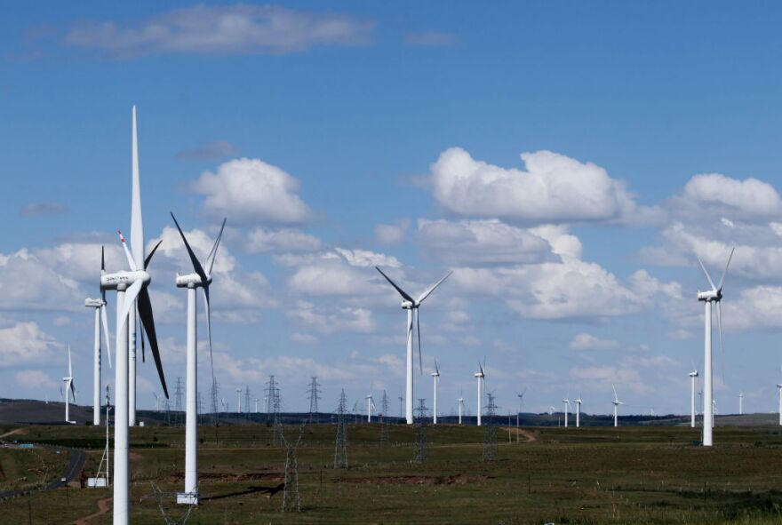 A new study says windfarm operators are likely to benefit from an uptick in wind speeds since faster wind means more efficient wind turbines. (Photo by VCG via Getty Images)