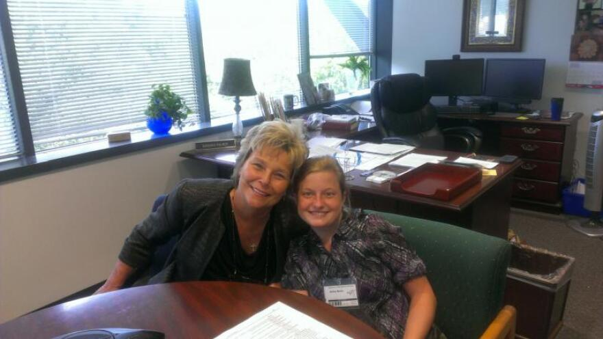 Agency For Persons With Disabilities Director Barbara Palmer with Ashley Martin