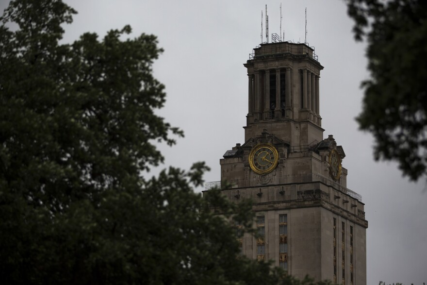The University of Texas at Austin tower.