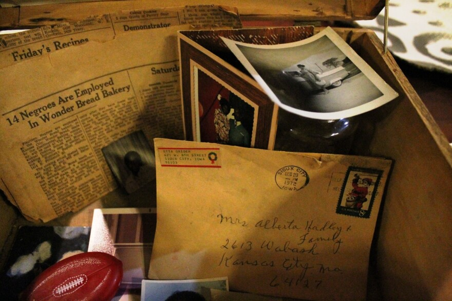 These photos, correspondence and newspaper clippings were found in a home in the former Wendell-Phillips neighborhood in Kansas City.