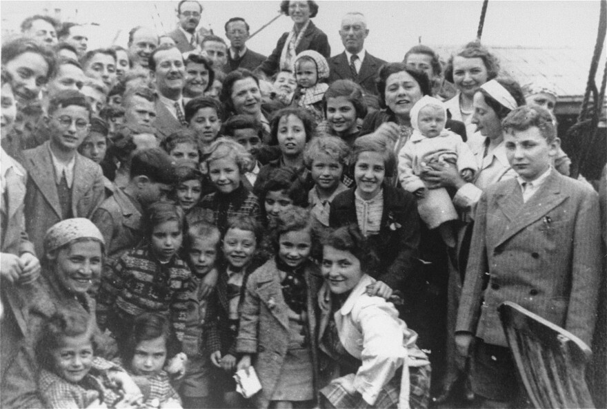 Jewish refugees aboard the MS St. Louis, a passenger ship sent back to Europe during World War II. About one-quarter of the passengers were later killed in the Holocaust.