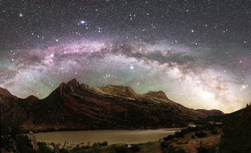 The Milky Way as seen from part of Dinosaur National Monument, which is located on the Colorado-Utah border.