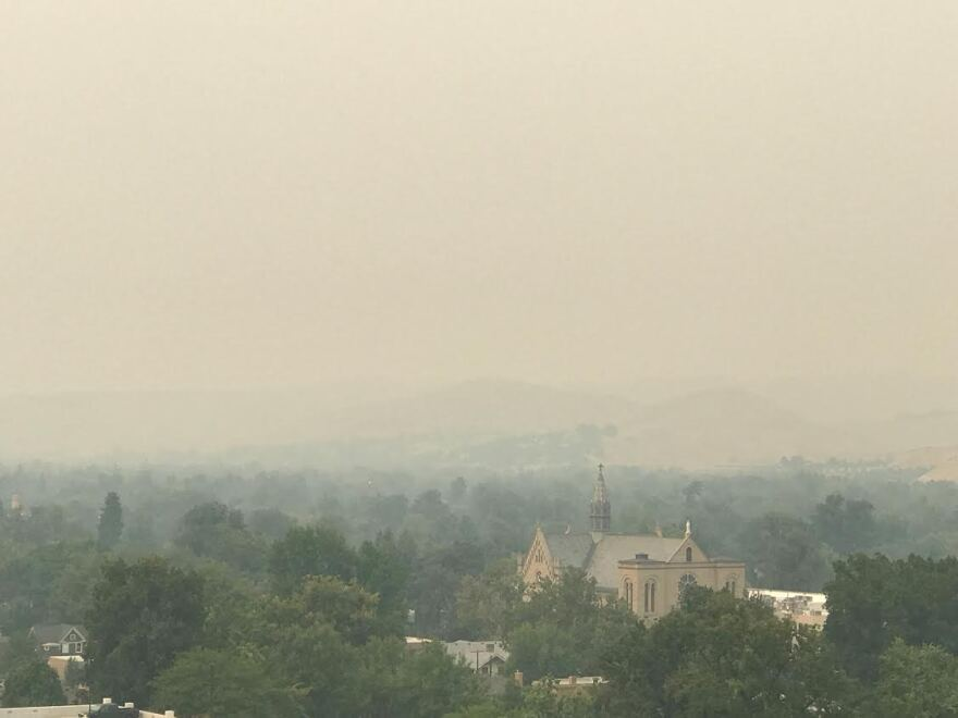 Air quality in Boise to the Treasure Valley ranks from moderate to unhealthy, due to smoke. Sensitive groups should stay inside.