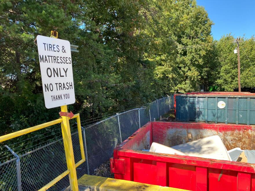 dumpsters at Hickory Grove Recycling Center