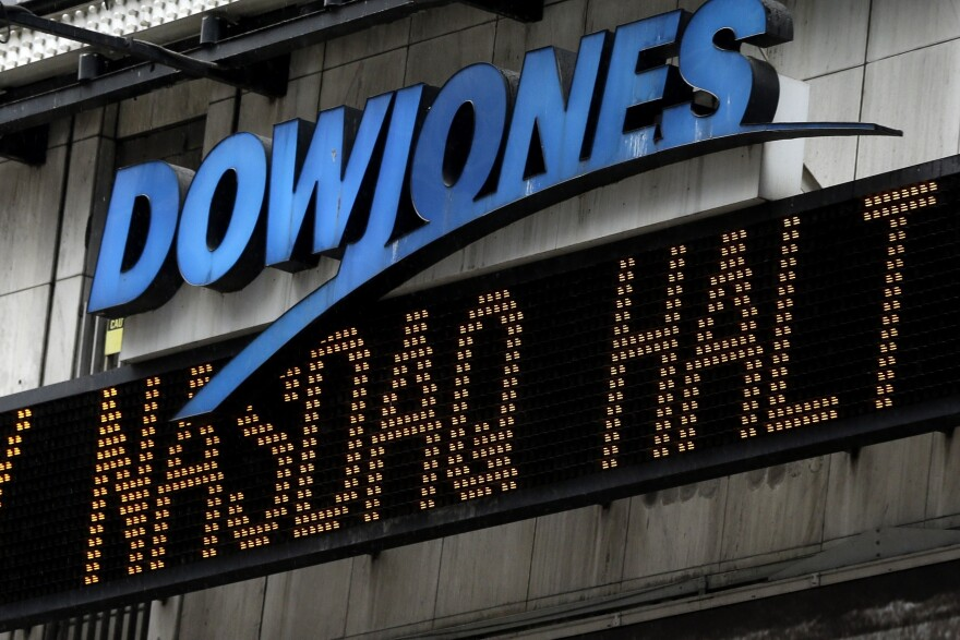 An electronic display in New York's Times Square on Aug. 22, 2013. Nasdaq halted trading that day because of a technical problem.
