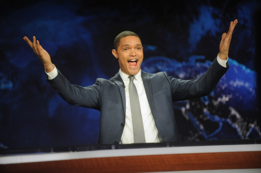 Trevor Noah hosts Comedy Central's <em>The Daily Show with Trevor Noah</em> premiere on Monday in New York City.