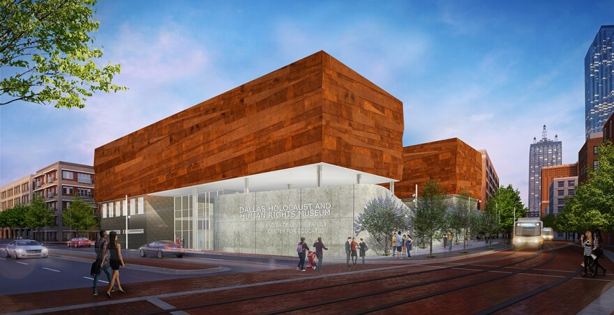 An artists' rendering of the exterior of the museum after it opens in September 2019.