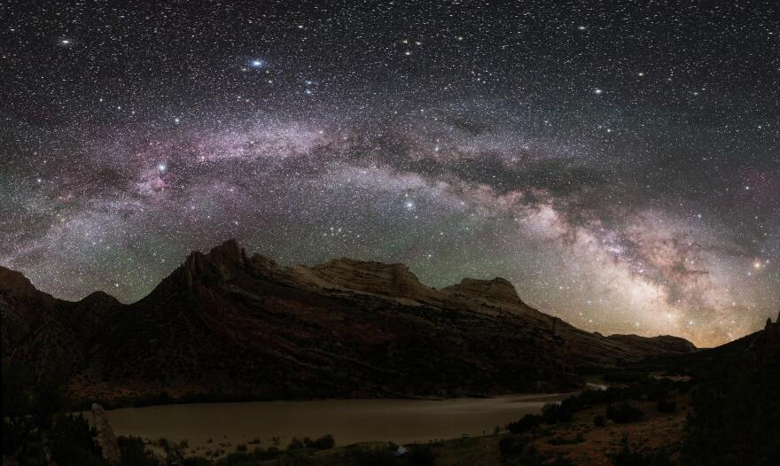 Photo of the night sky at Dinosaur National Monument.