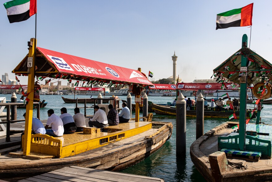 Water taxis in the Dubai Creek last month.