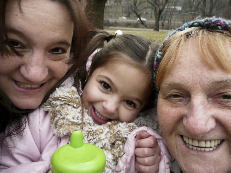 """Here'€™s a picture of my awesome mom, my adorable niece and me. Three generations of funny, silly ladies with big hearts. Family is very important and we do our best to help each other out."""
