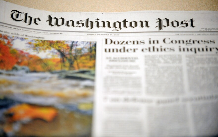 View of the front page of the October 30, 2009 edition of The Washington Post.