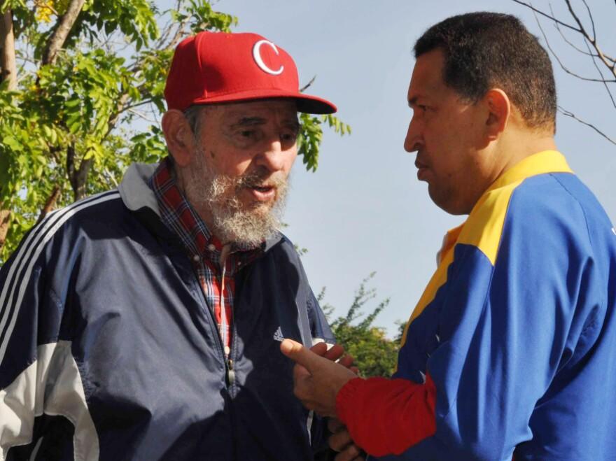 Chavez speaks with Cuban leader Fidel Castro in Havana in June 2011. Chavez went to Cuba to undergo surgery.