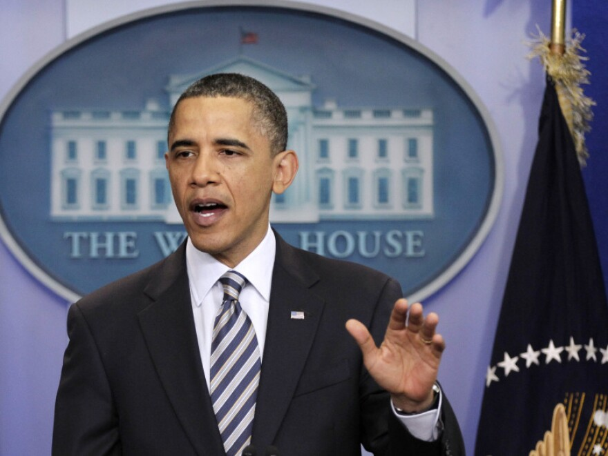 President Obama speaks Wednesday to reporters about the controversy over his birth certificate.