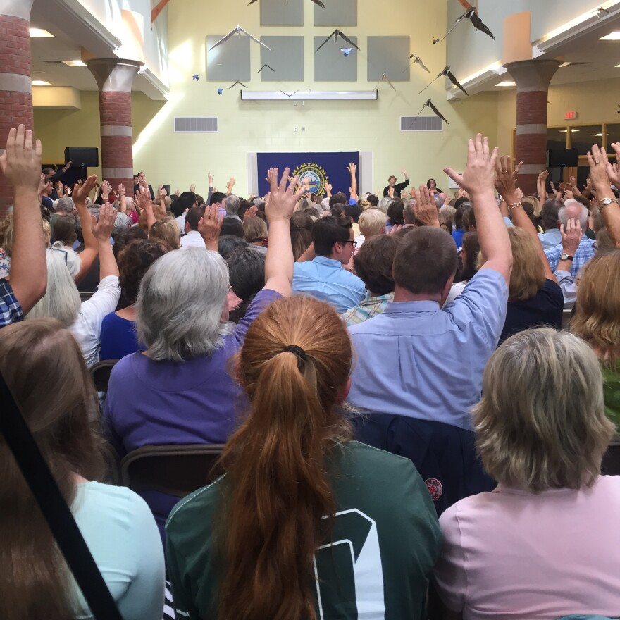 Asked how many in the audience had been impacted by substance use — their own or someone they know — nearly every hand went up.