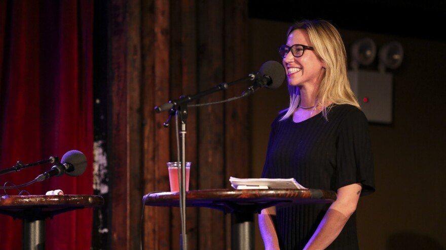 Mystery Guest Bernadette Libonate appears on Ask Me Another at the Bell House in Brooklyn, New York