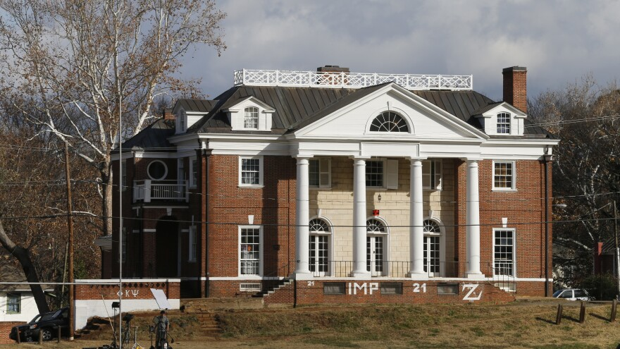 The Phi Kappa Psi fraternity house at the University of Virginia in Charlottesville, Va. The fraternity was at the center of a controversial <em>Rolling Stone</em> article describing an alleged gang rape at the school.