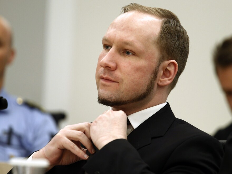 The verdict against Norwegian mass killer Anders Behring Breivik is delivered in Oslo on Aug. 24, 2012.