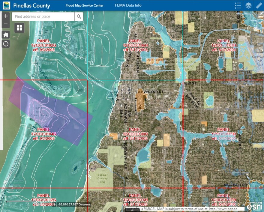 Updated Pinellas County flood zone map.