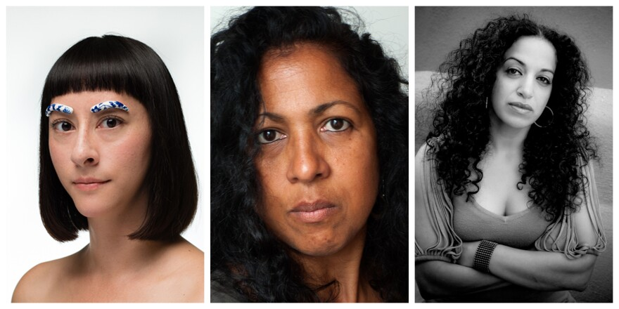 Jennifer Ling Datchuk, Roshini Kempadoo and Sama Alshaibi. Artpace artists in residence.