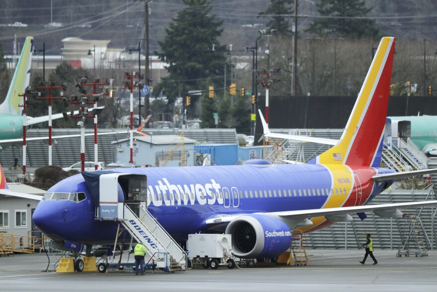 Southwest Airlines Boeing 737 Max airplane