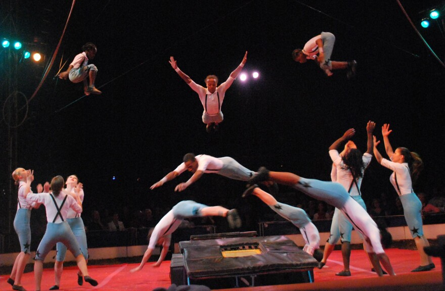 The St. Louis Arches perform at Circus Flora in 2010.