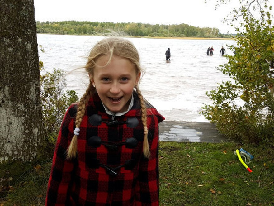 Saga Vanecek found an ancient sword while wading in a lake in Sweden.