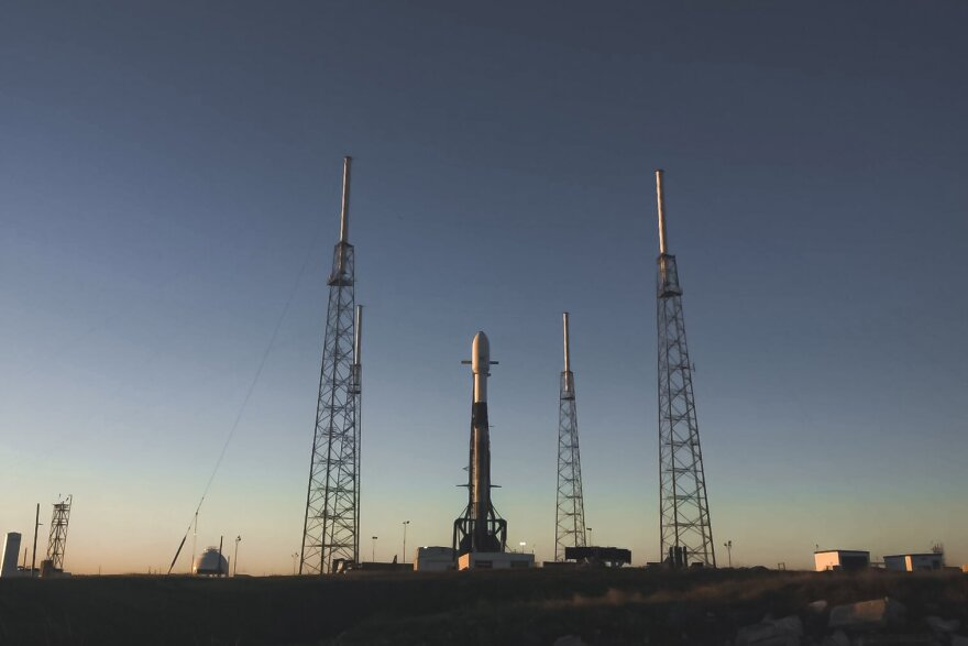 SpaceX's Falcon 9 rocket on the launch pad