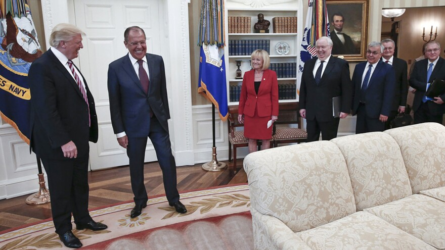 President Trump meets with Russian Foreign Minister Sergey Lavrov in the Oval Office on Wednesday.