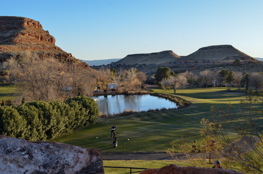 A photo of a golf course in St. George.